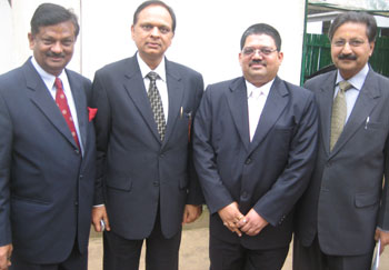 FHRAI Secretary General Kamal Sharma, Honorary Secrtary S P Jain, President Rajesh Mishra and Vijai Pande