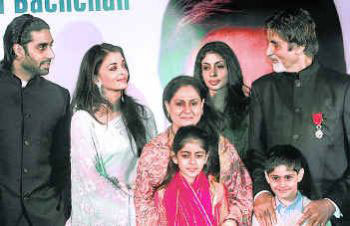 Amitabh Bachchan with family