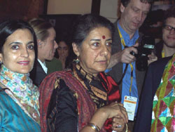 Ambika Soni and Kiran Choudhry